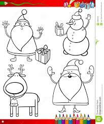 cartoon christmas themes coloring royalty free stock photos