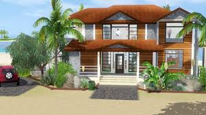 sims 3 house building tropical haven with story youtube