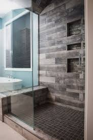 best 25 granite shower ideas on pinterest small master bathroom amazing bathroom walk in shower featuring york wood manor tile color birch tree from dal tile