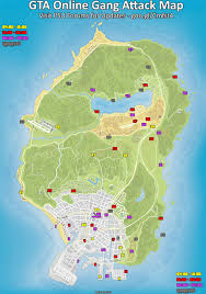 Map Of Seattle Gangs And by Gta V Online Gang Attack Map Imgur