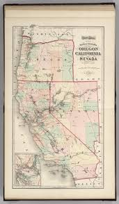 map of oregon nevada railroad map of oregon california and nevada david rumsey