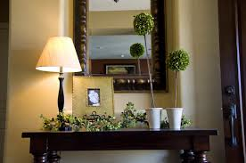 White Foyer Table Decorations Breathtaking Foyer Decorating With Rectangle Frame