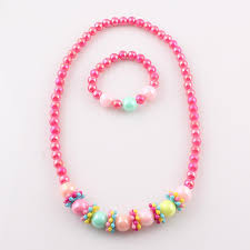 beads necklace set images Candy color handmade children beads jewelry set baby child kids jpg