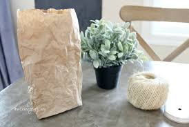 Bag Vase Use A Brown Bag To Make A Paper Vase For Indoor Greenery The