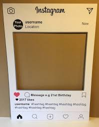 Bliss Home And Design Instagram by Personalised Instagram Social Media Party Selfie Photo Frame Party