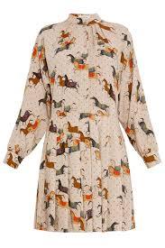 paul u0026 joe horse print dress in natural lyst
