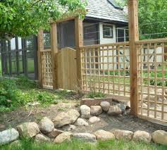 considerations of building a garden fence front yard landscaping