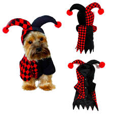 Cute Pet Clothes Hoodie Clown Costume Dog Cat Halloween Jumpsuit