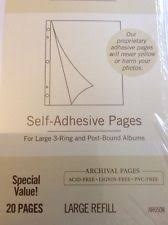 self adhesive photo album refill pages hallmark white scrapbooking albums refills ebay