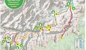 Grand Canyon Maps Grand Canyon National Park Tanner Escalante Grandview Circuit
