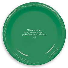 personalized dinner plate christmas plates 10 in plastic personalized