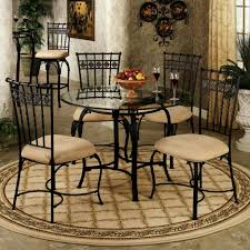 Wrought Iron Patio Dining Set - dining room outdoor dining table design with black round wrought