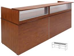 Reception Desk Miami by Custom Size Linear Reception Desk 5 U0027 Width
