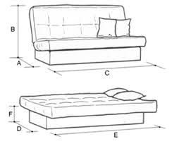 Chicago  Seat Foam Or Pocket Sprung Sofa Bed - Sofa bed dimensions