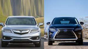 lexus sedan vs acura sedan 2016 acura rdx vs 2016 lexus rx 350 youtube