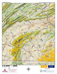 Cumberland Lake Map Pennsylvania Wind Maps St Francis University