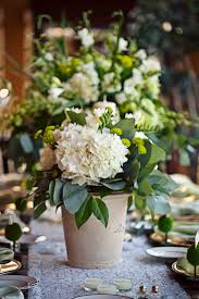Potted Plants Wedding Centerpieces by Gorgeous Green Potted Hydrangea Centerpiece Photos By Lsd