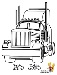 18 wheeler diesel coloring pictures trucks print