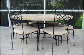 chaises fer forg chaise en fer forgé plein et coussin lavable living roc