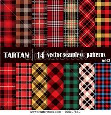 plaid vs tartan set tartan seamless patterntrendy illustration wallpaperstartan