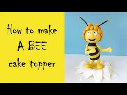 z cake toppers how to make a bee cake topper tutorial jak zrobić pszczółkę maję