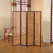 photo room divider amazon com decorative 4 panel wood u0026 bamboo folding room divider