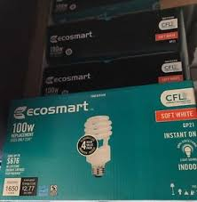 100w cfl light bulbs ecosmart 100w equivalent soft white 2700k double life cfl light