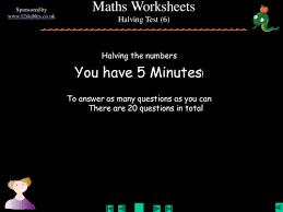 halving whole numbers by squidley teaching resources tes