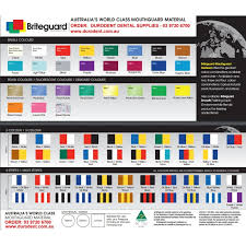 mouthguard material colour chart tent card 1