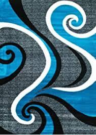 amazon com 2305 turquoise white swirls 5 u00272 x 7 u00272 modern abstract