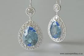 diamond earrings nz pear aquamarine and diamond halo earrings new zealand
