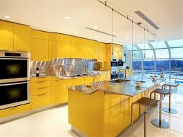 yellow and blue kitchen ideas home design inspirations