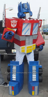 Transformer Halloween Costume Awesome G1 Optimus Prime Costume Recycled Materials Optimus