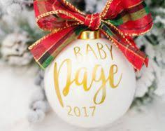 baby due date announcement glass keepsake ornament gift baby due