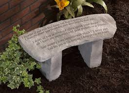 personalized garden stones memorial garden bench and personalized memorial garden benches