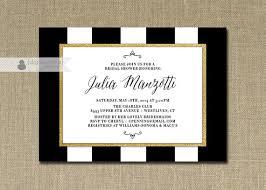 black and white striped wedding invitations black white gold bridal shower invitation gold glitter stripes