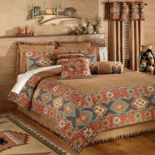Western Bedding Western Bedding Cabin Place Orange And Turquoise Del Rio Colle
