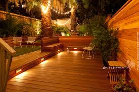 Patio Deck Lighting Ideas by Growsgreen Landscape Design
