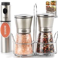 amazon com the sapores salt and pepper shakers with matching