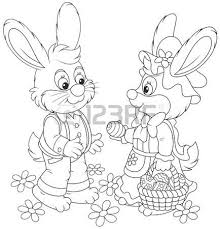 easter bunny painting easter eggs royalty free cliparts vectors