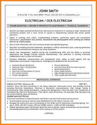 Electrician Resume Examples by High Voltage Electrician Cover Letter