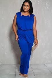 royal blue jumpsuit royal blue sleeveless casual plus size jumpsuit