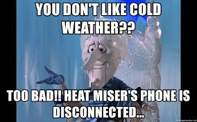 Too Bad Meme - you don t like cold weather too bad heat miser s phone is