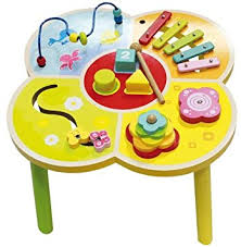 wooden activity table for wooden activity table for children amazon co uk toys games
