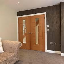 Glass Fire Doors by Jb Kind Tigris Emral Oak Fully Finished Clear Glass Fd30 Internal