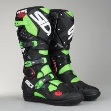 sidi motocross boots review sidi crossfire 2 srs motocross boots green fluorescent black now