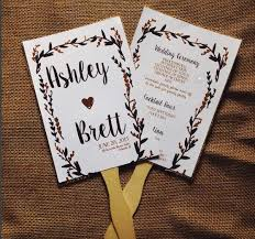 gold wedding programs rustic wedding program fans floral black and gold 50 fans