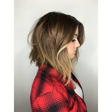 brown and blonde ombre with a line hair cut drelefevre com andrea lefevre the lab a salon in san diego ca