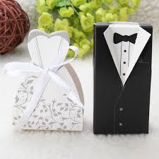 bride groom wedding favor boxes 100pcs wedding favor candy box bride bride groom formal dress