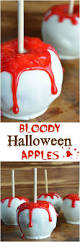 bloody white chocolate apples recipe kid halloween and white